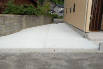 土間コンクリート打ち施工事例/能登町