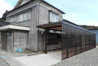 カーポート設置施工事例/能登町