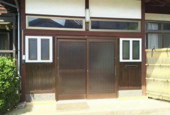 玄関引き戸リフォーム施工事例/穴水町
