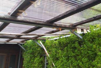 車庫波トタン屋根張り直し工事/能登町