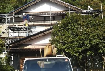 屋根瓦葺き替え工事!/能登町