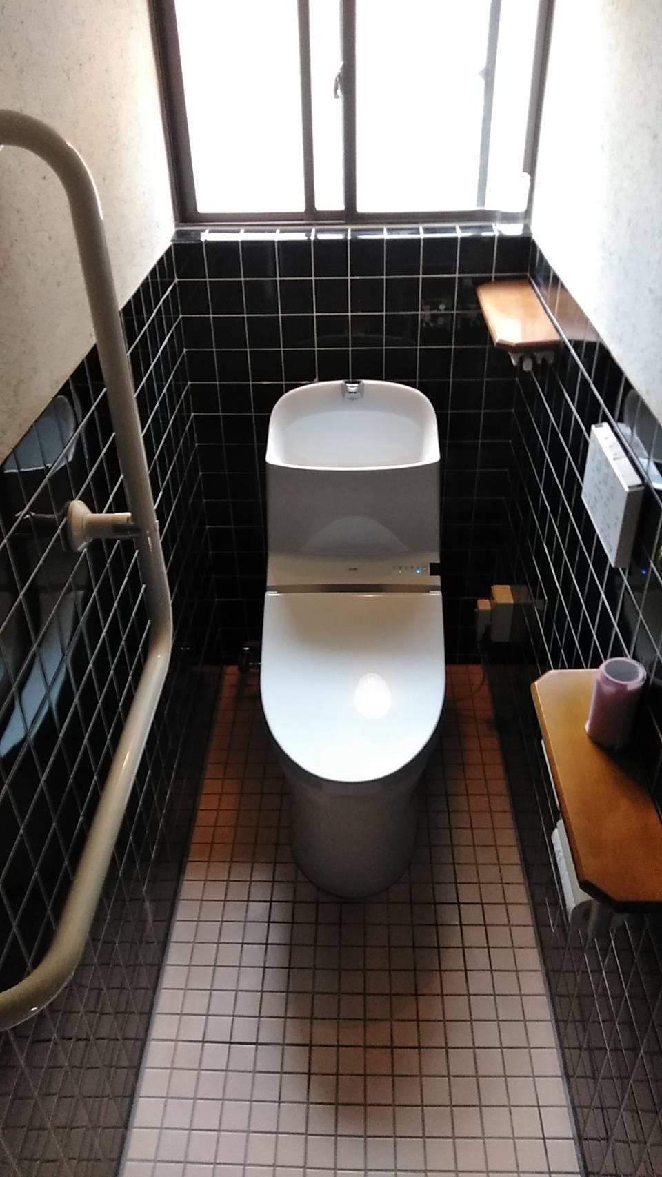トイレ交換工事施工事例(TOTO GG1-800)/能登町