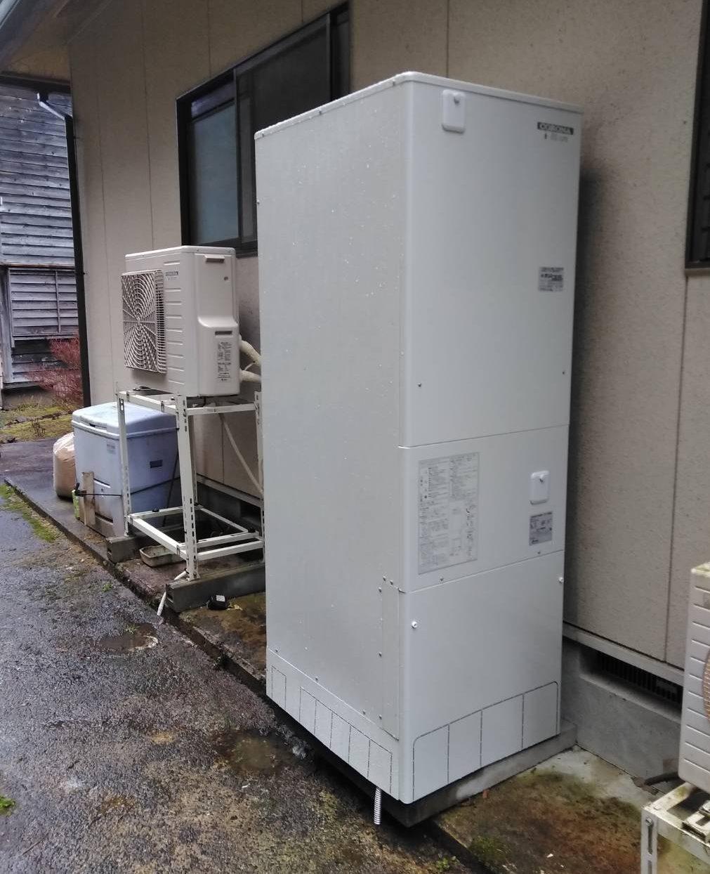 コロナ  エコキュート 施工事例☆/能登町