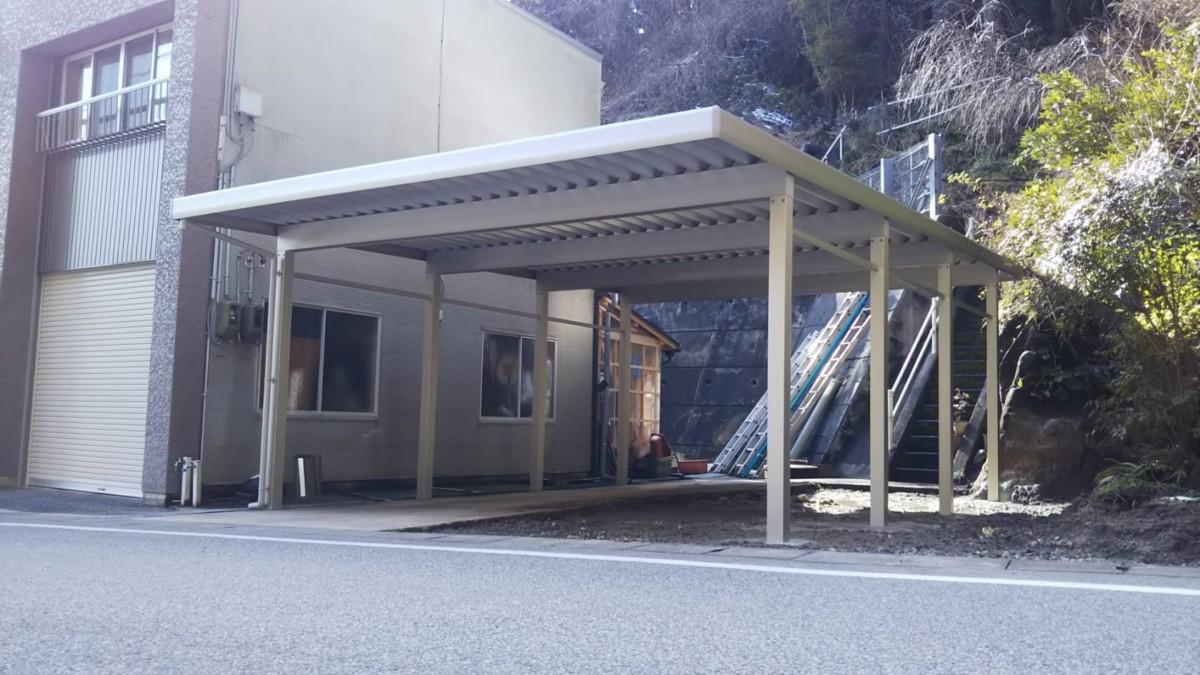 カーポート設置施工事例♪/能登町