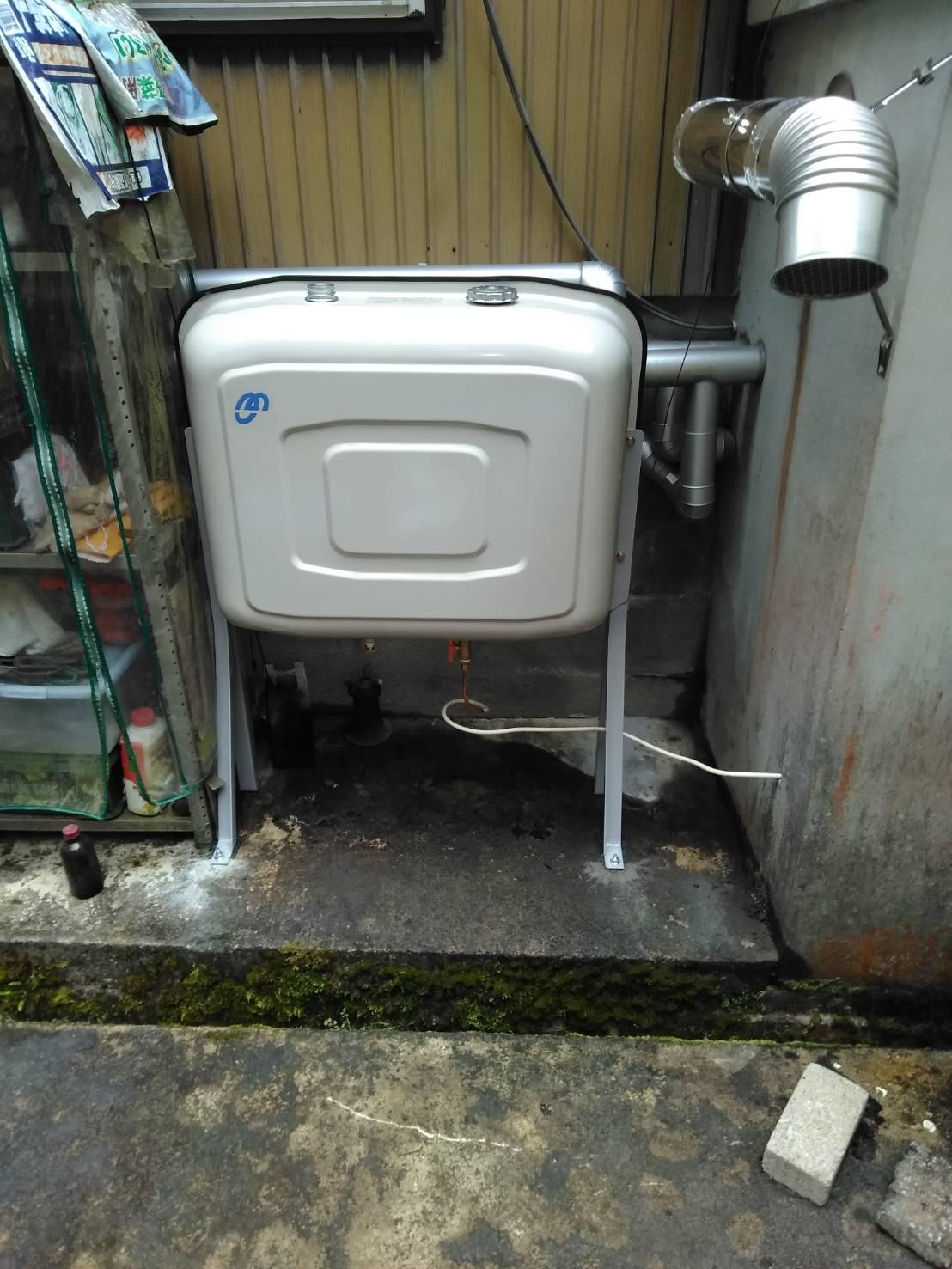 石油給湯器 オイルタンク取替工事/能登町