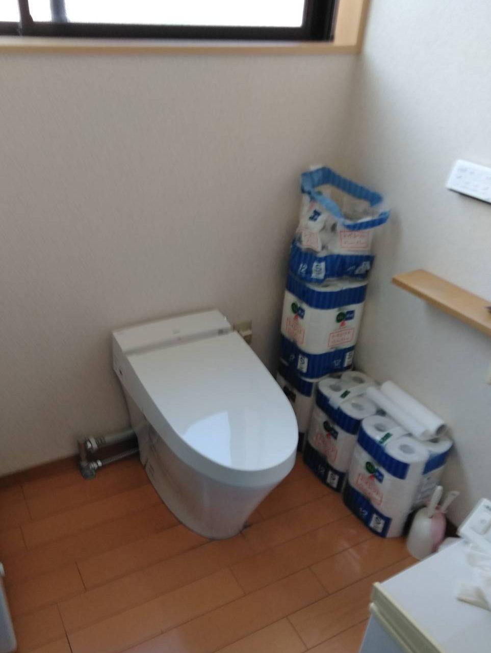 LIXIL サティスS トイレ交換 施工事例/能登町