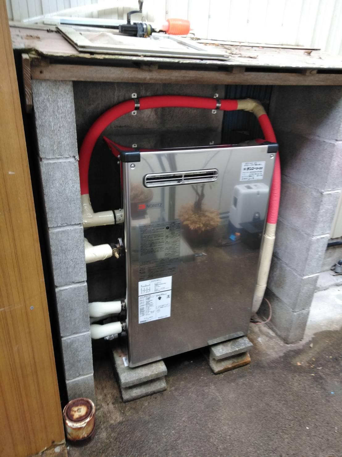 ノーリツ 石油給湯器交換 施工事例/能登町