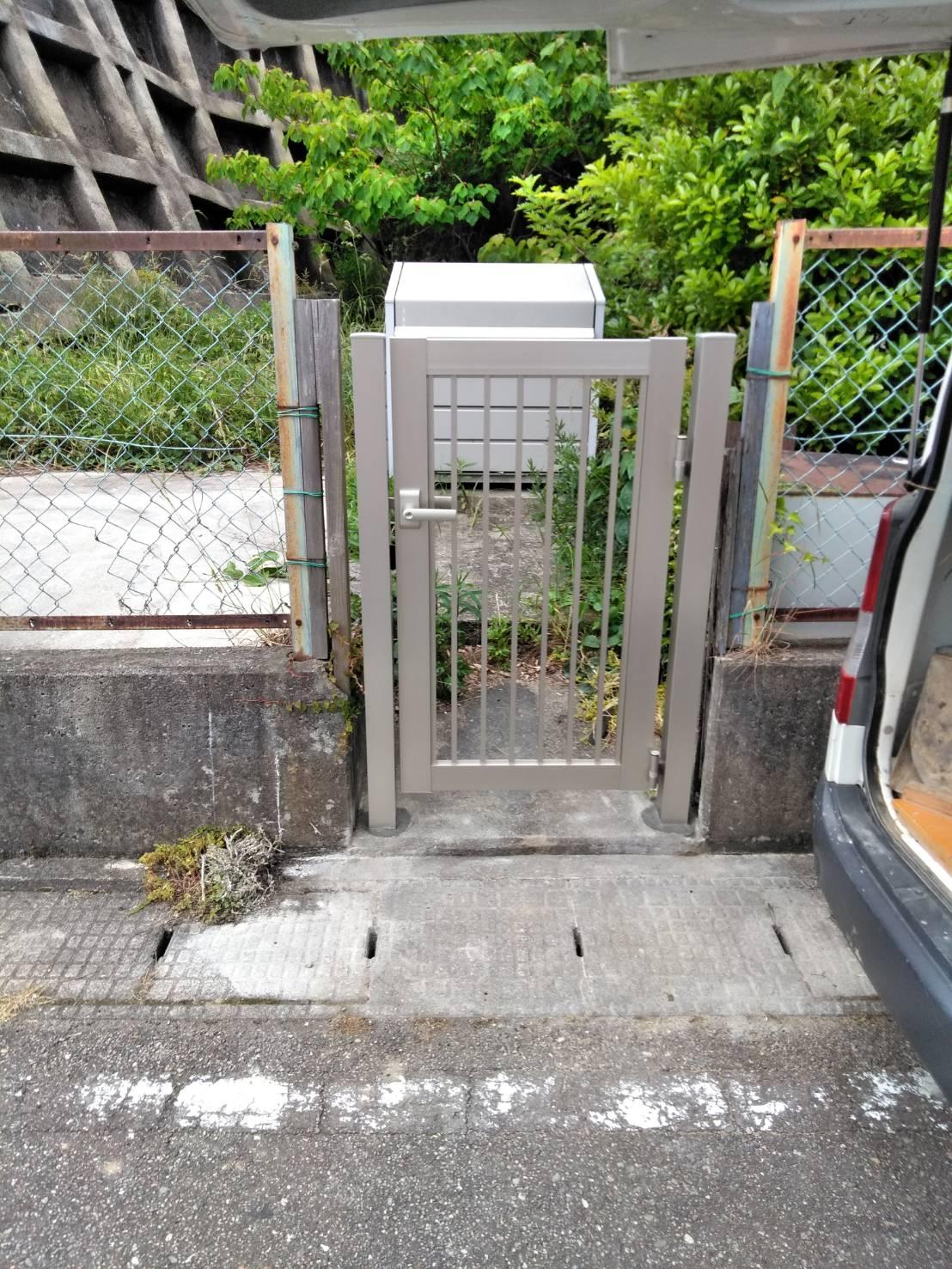 門扉 取替 施工事例☆/能登町