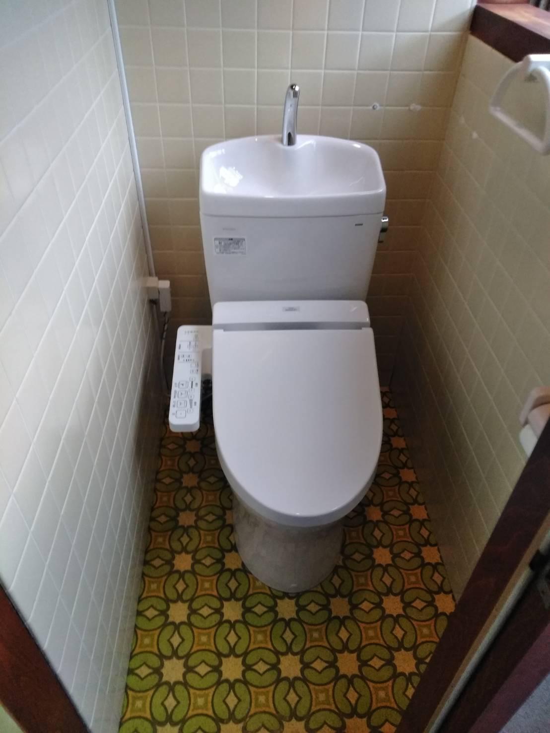 TOTO ピュアレストQR+SB トイレ 施工事例☆/能登町