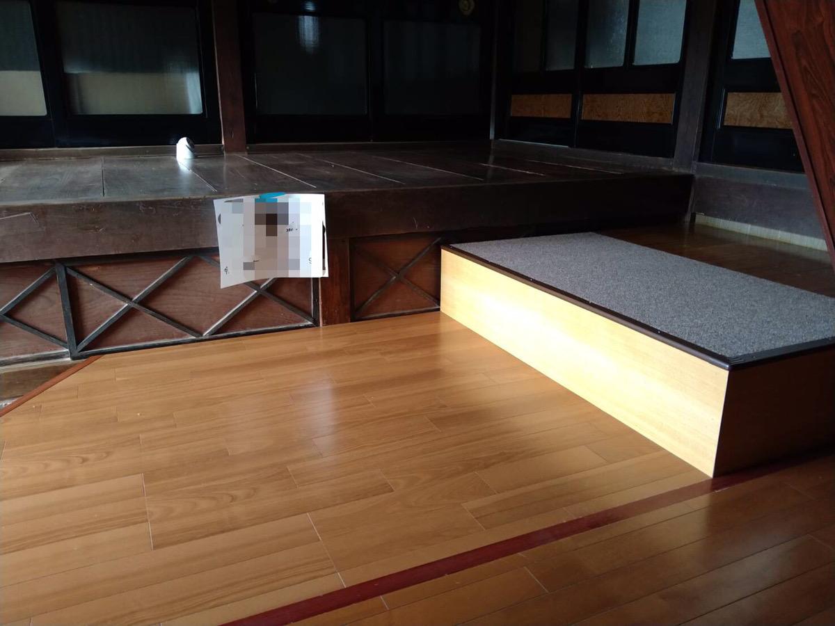 玄関土間 介護保険改修工事 施工事例☆/能登町
