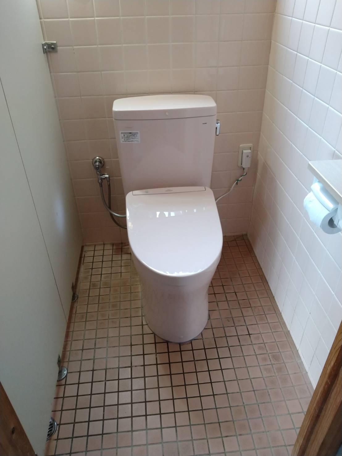 TOTO QR+アプリコット トイレ交換 施工事例★/能登町