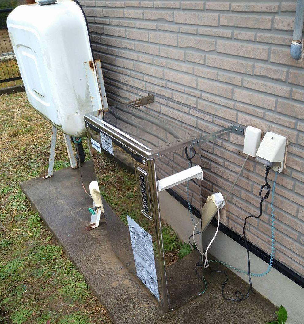 コロナ 石油給湯器 施工事例☆/能登町
