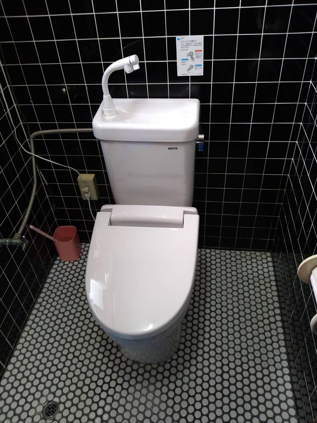 簡易水洗トイレ 取替え施工事例☆/能登町