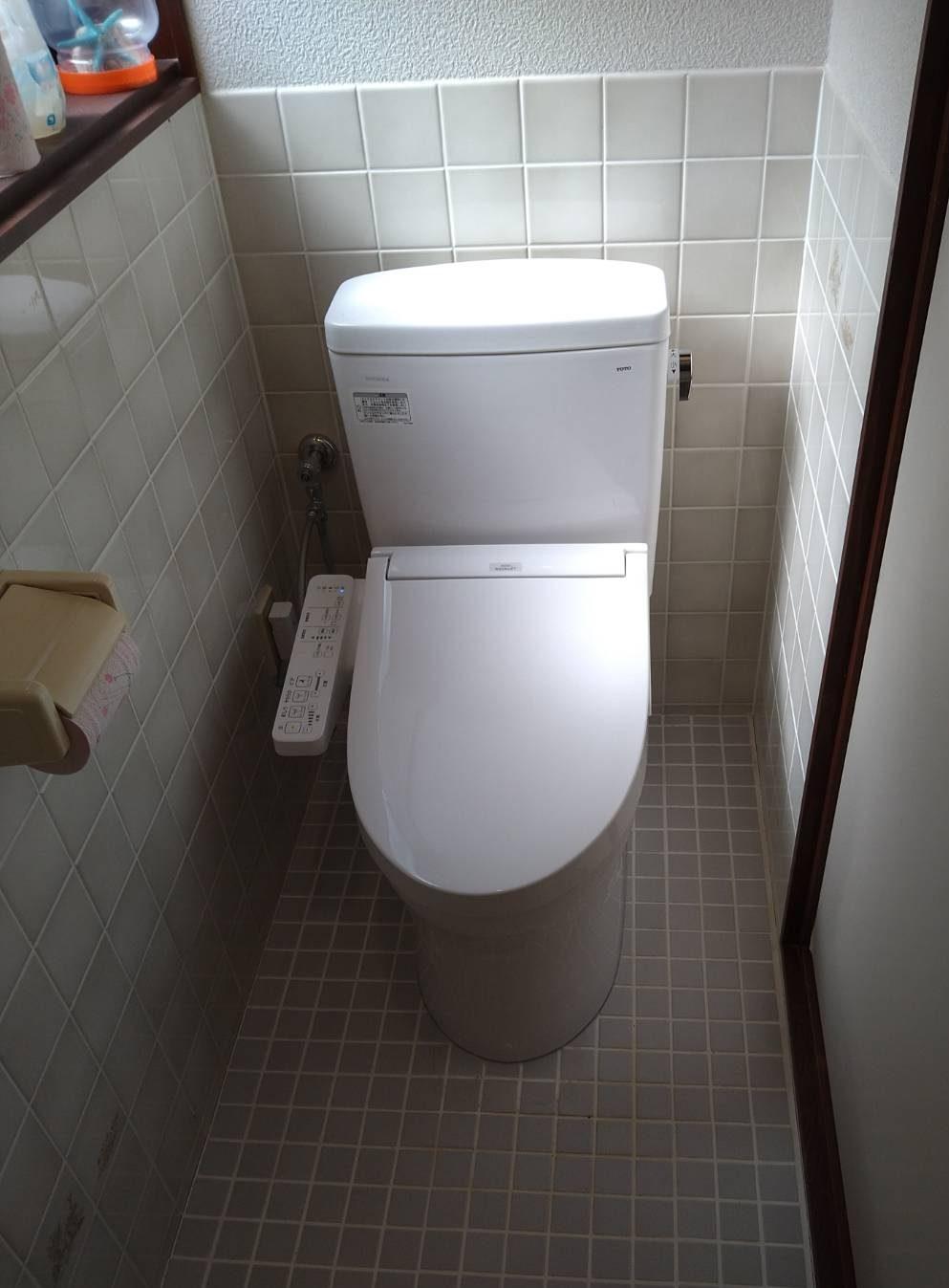 TOTO QR+SB トイレ交換 施工事例☆/能登町