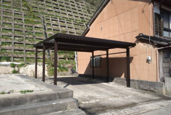 YKKAP カーポート設置2台用 施工事例☆/能登町