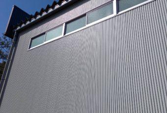 角波サイディング 外壁 施工事例♪/能登町